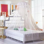 Beety Round Lace Curtain Dome Bed Canopy Netting Princess Mosquito Net
