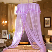 XDOBO Princess Lace Dome Bed Canopy Netting Mosquito Net Double Bed Round Curtains