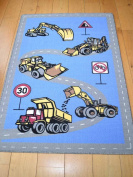Kids Non Slip Machine Washable Diggers Play Mat. Available in 3 Sizes