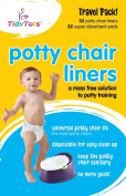 Tidy Tots Disposable Potty Chair Liners - Travel Pack XL - 32 Liners And 32 Super-Absorbent Pads