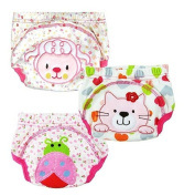 JZHY 3Pcs Cute Baby Infant Kids Training Pants Washable Cloth Nappy Nappy Underwear-Girl,XL