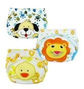 JZHY 3Pcs Cute Baby Infant Kids Training Pants Washable Cloth Nappy Nappy Underwear-Boy,M