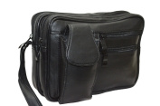 Lamb Leather Messenger Bag Black Bag LANIERE New
