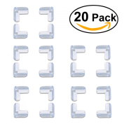 Tinksky 20pcs Safety Soft Silicone Corner Guards Table Corner Cushions Protectors for Baby Child Kids