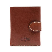 Zulu Tri-Fold Chest Pocket Leather Wallet - Tan