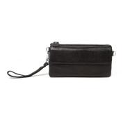 BAIGIO Vintage Soft Leather Mini Travel Cross Body Wristlet Bag