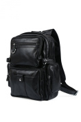 Tiding Men's Genuine Leather Backpacks Boys School Bag 3001