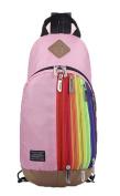Baymate Children Shoulders Backpack Travel Rucksack With Rainbow Patterns