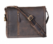 A72 Brown Mens Shoulder Messenger Leather Bag ipad Laptop Vintage Leather bag