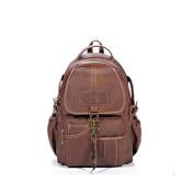 Lycailcy Women's Genuine Leather Backpack Purses Shoulders Bag Travel Bag Daypack Satchel Backpack Messenger Bags Light Brown Hook