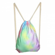 Girls Fashion Candy Colour Lightweight Drawstring Backpack