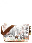 YNOT Women's Top-Handle Bag Multicoloured stampa Spring in New York