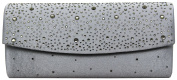 HotStyleZone New stunning ladies' diamante satin evening clutch bag wedding prom party
