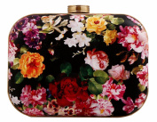 Tina Women's Retro Flower Printed Evening Party Clutch Chain Shoulder Bag