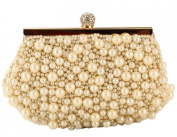 Tina Women's Crystal Beaded Chain Strap Evening Wedding Party Clutch Handbag
