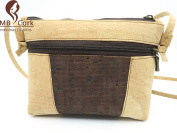 MB Cork - Woman Messenger Bag in Natural Cork Natural Cork Colour/Brown- Original Design Handmade BAG-43