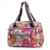 Women Light-weight Floral Flower Cross body Bag Tote Purse with Removable Shoulder Strap Waterproof