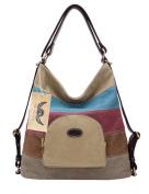 PB-SOAR Women's Fashion Canvas Handbag Shoulder Bag Backpack Tote Bag Multifunctional Bag