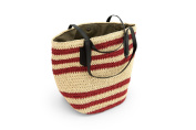 Dreiklang Bag Rome - A modern classic shopping bag made of featherlight Bastmaterial with decorative striped pattern and plenty of space for all your beautiful things.