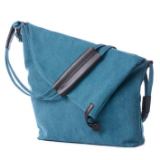 Unisex Vintage Retro Washed Canvas Simple Messenger Bag Satchel Shoulder Handbag Daypack