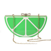 ANDAY Women's Cute Acrylic Fruit Evening Party Bride Clutch Shoulder Bag Green