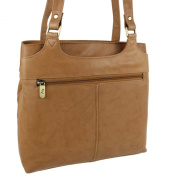 Ladies Soft LEATHER Shoulder Handbag by GiGi; Othello Collection Classic Bag