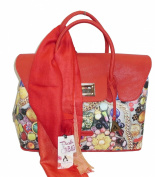 Pash Bag bags by l'atelier du sac mod 4407 ORLEANS Red Scarf