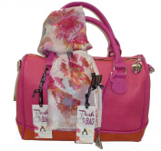 Pashbags Bag by L'atelier du sac 4412 RENNES Box Orange with Scarf