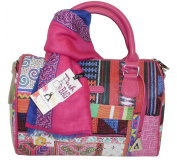Pashbags Bag by L'atelier du sac 4380 RENNES Box Fuchsia with Scarf