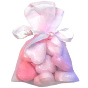 Heart Shaped Pink Bath Fizzers by Out of The Blue