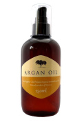 100 % Pure Organic Argan Oil 250ml - Cold Pressed Premium Quality Cosmetic Moroccan Oil for Face, Skin, Hair, Nails - Non-greasy, Fast Absorbing - all In one treatment for anti-ageing, anti-wrinkles, acne, scars, stretch marks, cuticle, split ends, fri ..