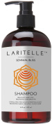 Laritelle Organic Shampoo 470ml | Hair Loss Prevention, Clarifying, Strengthening, Follicle Stimulating | Argan Oil, Rosemary & Palmarosa | NO GMO, Sulphates, Gluten, Alcohol, Parabens, Phthalates