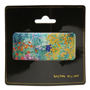 Gustav Klimt Farm Garden Blue 4 9 cm Jaw Hair Clip