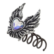 Alchemy Gothic Women's Heart Of An Angel Hair Screw - One Size, Silver