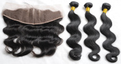 Ziyi Queen Unprocessed Brazilian Virgin Human Hair Body Wave 3 Bundles With 3 Part Lace Frontal Closure 13x 4 Beached Knots With Baby Hair Natural Colour Hair Weft -20 22 24+41cm