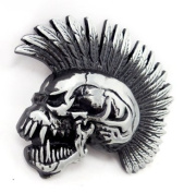 Belt Buckle Punk Rock Skull 3064 Killer Gothic Belt Buckle Iroxl Black Metal Buckle
