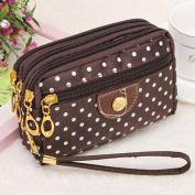 Ouneed Fashion Women Wristlets Bag Messenger Wave Canvas Zipper Bag