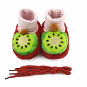 Shorven Newborn Baby Anti-slip Soft Sole Booties Crib Shoes Cute Fruits Design 0-6 Months