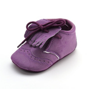 Baby Girls' Suede Lace-up Boots Purple US Size 4
