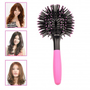 inkint 3D Spherical Round Massage Comb Volume Brush Hair Curling Straightening Styling Tools Relax Your Scalp for Salon Moulding with Hair Dryer