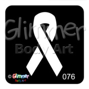 Glimmer Body Art Tattoo Stencil - Awareness Ribbon
