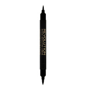 MAKEUP REVOLUTION AWESOME DOUBLE FLICK LIQUID EYELINER minimise & OPTIMISE BLACK