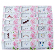 Banithani 18 Different Assorted Multicolour Self Adhesive Bindis Tattoo Stickers