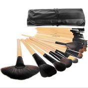HailiCare Professional 24pcs Makeup Brush Set Tools Make-up Toiletry Kit Wool Brand Make Up Goat Hair Brushes Set