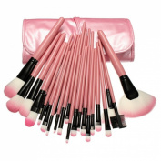 Ungfu Mall 32 PCS Pink Eyeshadow Eyebrow Blush Makeup Brushes Cosmetic Set