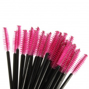 Ungfu Mall 100 pcs Eyelash Eyebrow Makeup Brushes Disposable Mascara Wands