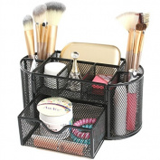 AmoVee Makeup Brush Holder Cosmetic Organiser Desk Tidy Mesh Desk Organiser Set Office Tidy Organiser