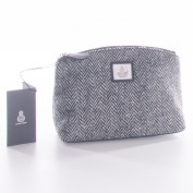 White Harris Tweed Cosmetic Bag
