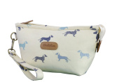 Beautiful Dachshund Sausage Dog Print Design Cosmetic Makeup Bag Pouch