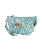 Beautiful Green Flower Print Design Cosmetic Makeup Bag Pouch